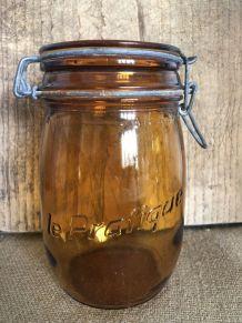 """Bocal ambré """"La Facile"""" - 1 litre"""