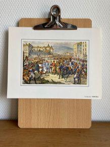 """Planche """"Bonaparte à Lyon 1799"""""""