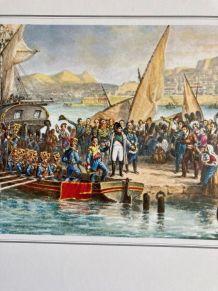 """Planche """"Napoléon quittant l'île d'Elbe"""""""