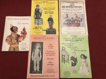 Lot de 5 catalogues enchères automates 1977