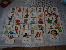jeu de bataille 32 cartes Disney complet Vintage