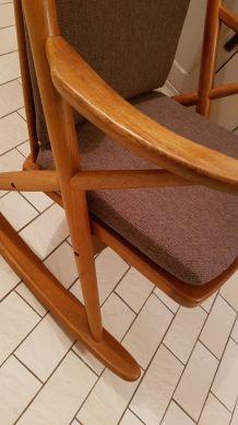 Rocking-chair vintage No. 182 de Reenskaug, fauteuil vintage