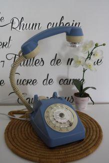 LAMPE À POSER RECYCLAGE TÉLÉPHONE VINTAGE'73