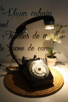 LAMPE À POSER RECYCLAGE TÉLÉPHONE VINTAGE'77
