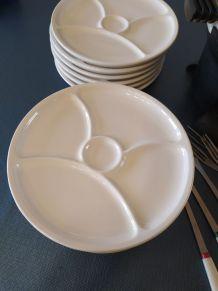 Service à fondue Le Creuset avec assiettes
