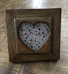 Cadre photo bois massif coeur