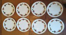 8  assiettes à dessert Sarreguemines