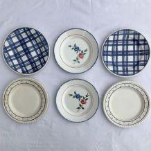 Série de 6 assiettes - en porcelaine