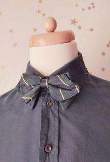 Vintage noeud papillon rayé marine