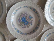 6 assiettes creuses Porcelaine du BERRY