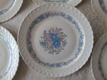 6 assiettes à dessert Porcelaine du BERRY