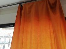 Rideaux orange x4