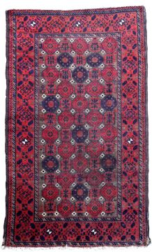 Tapis vintage Afghan Baluch fait main, 1P77