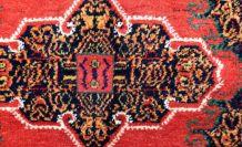 Tapis vintage Persan Senneh fait main, 1P78