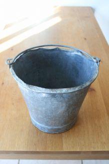 Seau acier galvanisé zinc années 60/70