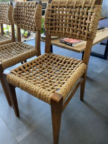 4 Chaises cordes vintage
