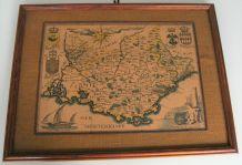 Tableau cadre carte comté Provence D.Derveaux