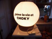 lampe de bar pub choky globe opaline