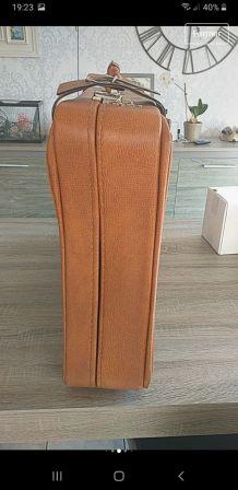 Valise en cuir marron