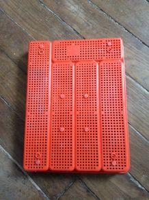 Panier à couverts vintage Syla orange