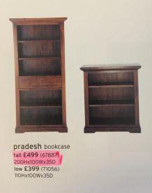 Meuble bibliotheque bois massif