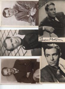 collection de cartes vintage avec les stars de Hollywood