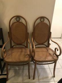 Lot de fauteuils Thonet N° 17 1900  à revernir