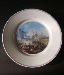 Deux assiettes commémoratives Révolution française.