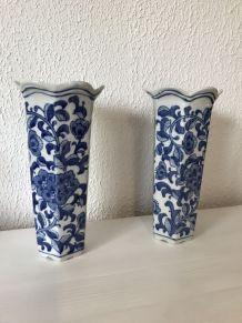 2 magnifiques vases bleu de delft