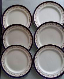 6 assiettes en porcelaine Harrods.