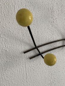 Porte-manteaux vintage 1960 6 patères boules - 50 cm