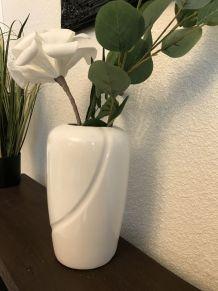 Bbeau vase blanc céramique