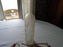 Bouteille flacon verre sablé