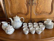 service a thé en porcelaine