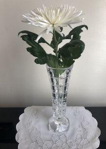 Vase haut, verre taillé, fête des mères