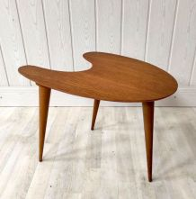 Table basse tripode forme libre – années 50/60
