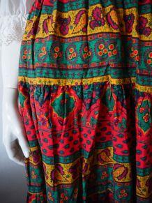 Jupe provençale 100% Coton Marat d'Avignon vintage