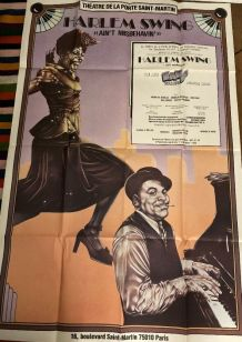 Affiche cinema originale Harlem Swing