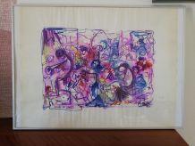 Encre sur papier Soirée Jazz du 9-6-73 - REJAS PABLO
