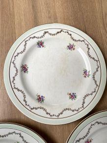 Set de 5 assiettes plates L'amandinoise