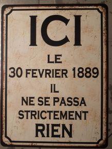 Plaque métal vintage ICI