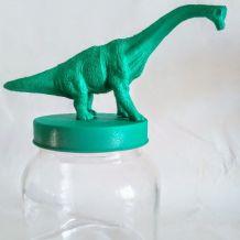 Bocal dinosaure vert, pot de rangement brontosaure