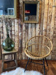 Fauteuil bambou et rotin vintage