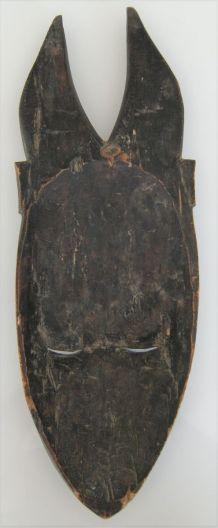 Statue masque mural bois semainier? Baoulé? Art africain