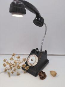 Lampe téléphone /lampe industrielle /détournement d'objet