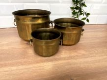ensemble de 3 cache-pots