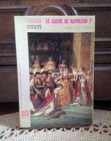 """Puzzle """"le sacre de Napoléon I er"""" - Nathan (1971)"""