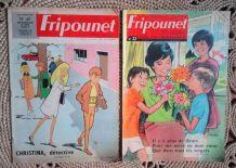 """Lot de 11 magazines """"Fripounet"""" - Années 60/70"""