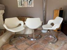 Lot de 3 chaises Boris TABACOFF pour MMM. 1970.