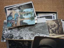 gros lot de cartes postales anciennes boite complète